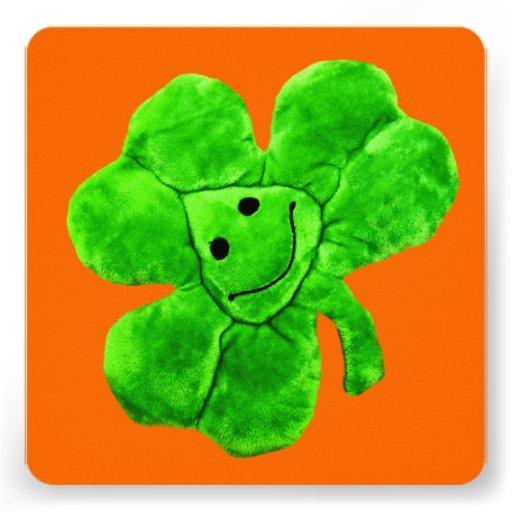 Saint Patrick's Day Funny Irish Shamrock Card Custom Invite