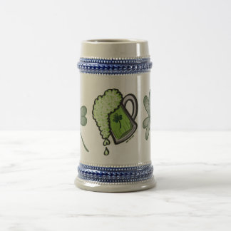 Saint Patrick's Day Glass of Beer Beer Stein