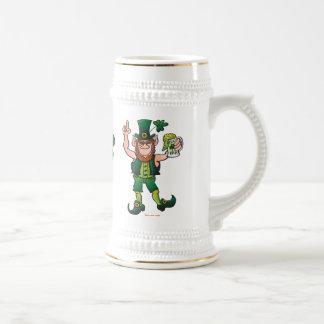 Saint Patrick's Day Leprechaun Drinking Beer Beer Stein