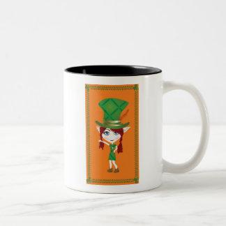 Saint Patrick's Day Leprechaun Two-Tone Coffee Mug