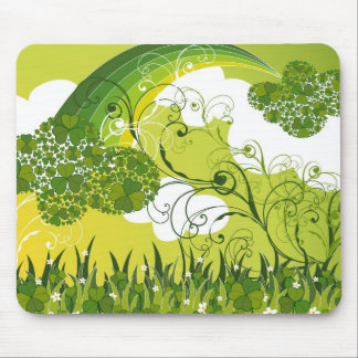 Saint Patrick's Day Lucky Clovers Shamrock Irish Mouse Pad