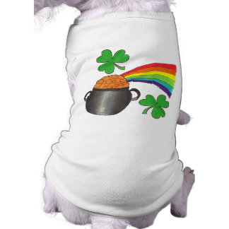 Saint Patrick's Day Lucky Rainbow Shamrock Dog Tee