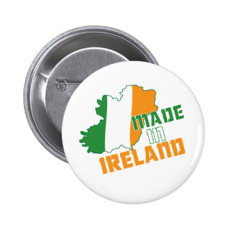Saint Patrick's Day Made in Ireland T-Shirt Pinback Button