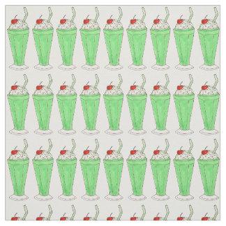 Saint Patrick's Day Mint Green Milkshake Fabric