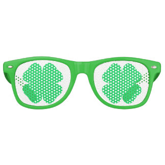 Saint Patrick's Day Shamrock Retro Sunglasses