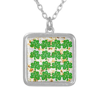 SAINT PATRICKS DAY SILVER PLATED NECKLACE