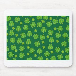 Saint Patrick's Day - Three Leaf Clovers Mouse Pad