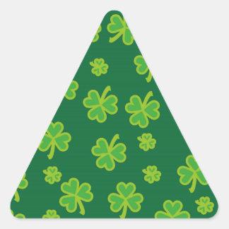 Saint Patrick's Day - Three Leaf Clovers Triangle Stickers