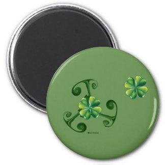 Saint Patrick's Day & Triskele ,Lá Fhélie Pádraig 2 Inch Round Magnet