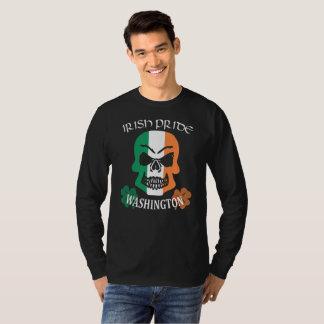 Saint Patrick's Day Washington Irish Skull Pride T-Shirt