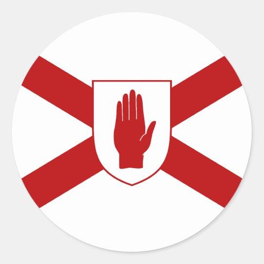 Saint Patrick'S For Northern Ireland Shield flag Classic Round Sticker
