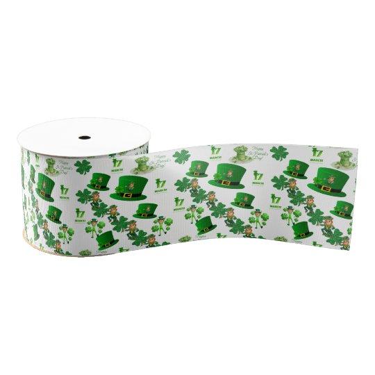 saint patricks green ribbon grosgrain ribbon