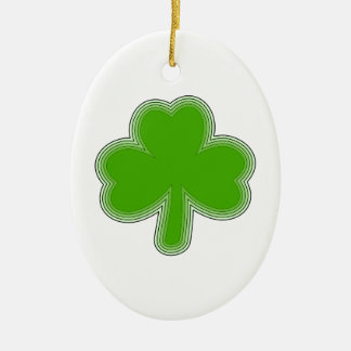 Saint Patrick'S Shamrock Drawing Ceramic Ornament