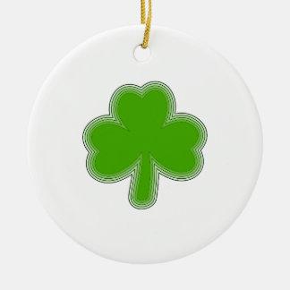 Saint Patrick'S Shamrock Drawing Ceramic Ornament