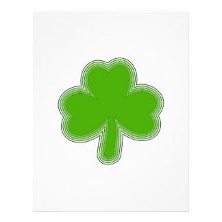 Saint Patrick'S Shamrock Drawing Letterhead