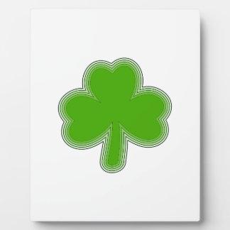 Saint Patrick'S Shamrock Drawing Plaque