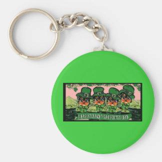 Saint Patty Yorkie Poos Keychain