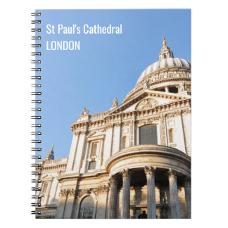 Saint Paul cathedral in London, UK Notebook