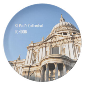 Saint Paul cathedral in London, UK Plate