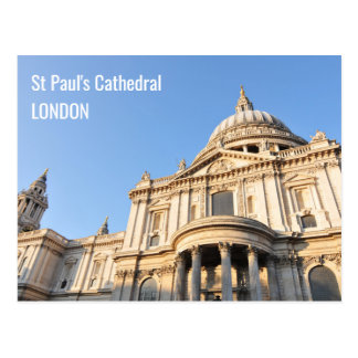 Saint Paul cathedral in London, UK Postcard