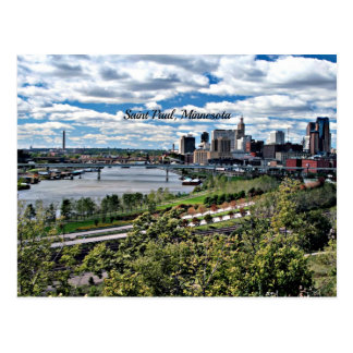 Saint Paul, Minnesota Landscape Postcard