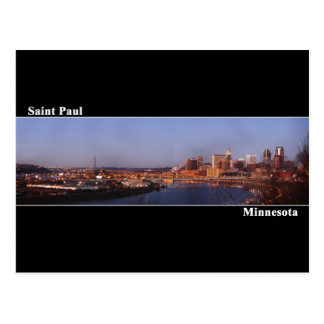 Saint Paul, Minnesota Post Card (Black)