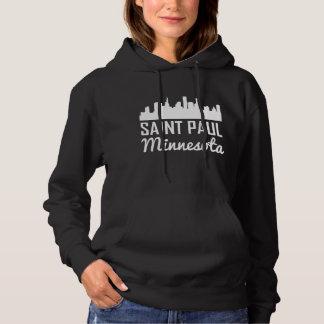 Saint Paul Minnesota Skyline Hoodie