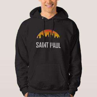 Saint Paul Minnesota Sunset Skyline Hoodie