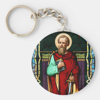 Saint Paul (Paul the Apostle) Stained Glass Art Keychain