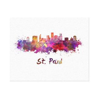 Saint Paul skyline in watercolor Canvas Print