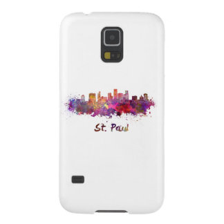 Saint Paul skyline in watercolor Galaxy S5 Cases