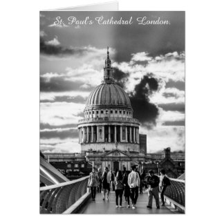 Saint Pauls Cathedral London. Card