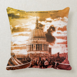 Saint Paul's Cathedral London. Throw Pillow