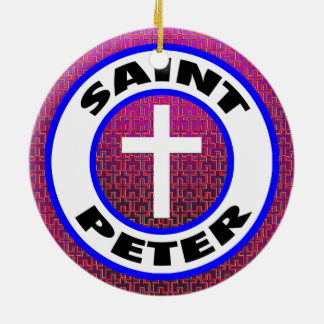 Saint Peter Ceramic Ornament