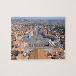 Saint Peter square in Vatican, Rome, Italy Jigsaw Puzzle