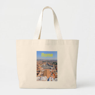 Saint Peter square in Vatican, Rome, Italy Large Tote Bag
