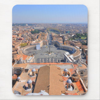 Saint Peter square in Vatican, Rome, Italy Mouse Pad