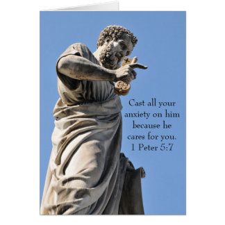 Saint Peter statue in Rome, Italy Card