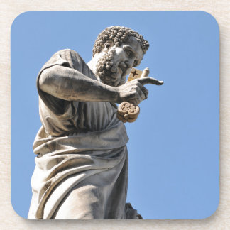 Saint Peter statue in Rome, Italy Coaster