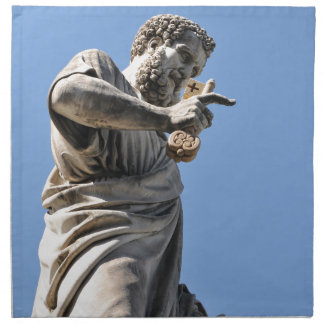 Saint Peter statue in Rome, Italy Napkin