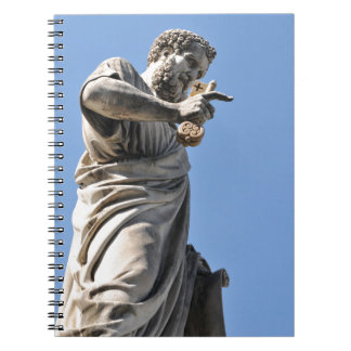 Saint Peter statue in Rome, Italy Spiral Notebook