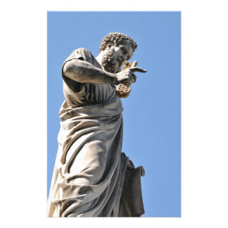 Saint Peter statue in Rome, Italy Stationery