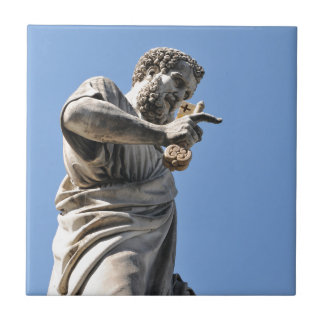 Saint Peter statue in Rome, Italy Tile