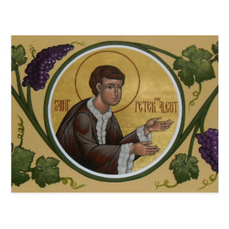 Saint Peter the Aleut Prayer Card Postcard