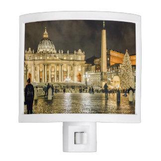 Saint Peters Basilica Winter Night Scene, Rome Night Lite