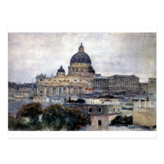 Saint Peter's Cathedral in Rome by Vasily Surikov Postcard