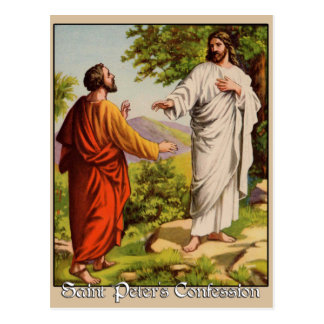 Saint Peter's Confession Postcard