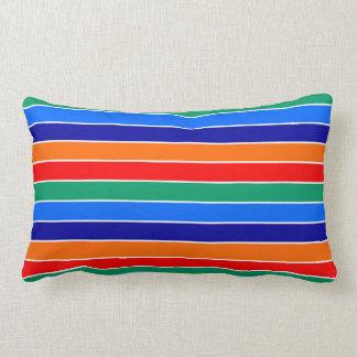 saint petersburg flag stripes lines pattern usa ci lumbar pillow