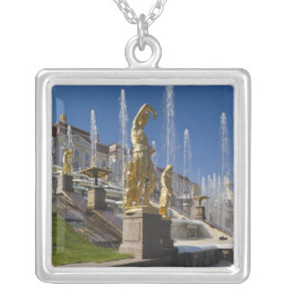 Saint Petersburg, Grand Cascade fountains 12 Silver Plated Necklace