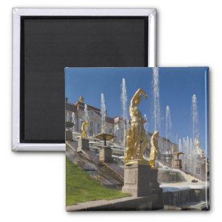 Saint Petersburg, Grand Cascade fountains 12 Square Magnet
